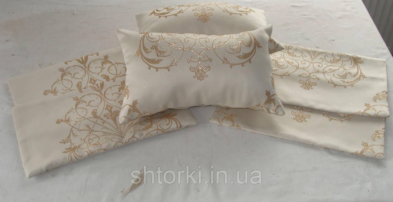 Комплект подушек корона слоновая кость 6шт