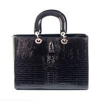 Крокодил черная сумка женская Dior
