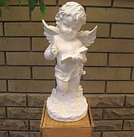 Ангелочек с пером и книгой  33*14*14 белый