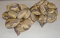 Подушка РОЗА золото с шоколадом, фото 1