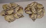 Подушка РОЗА золото с шоколадом, фото 2