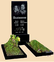 Памятник гранитный двойной вертикальный