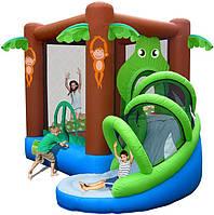 """Детский надувной батут игровой центр аттракцион """"Веселые джунгли"""" Happy Hop"""