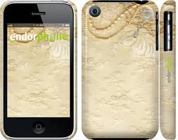 """Чехол на iPhone 3Gs Кружевной орнамент """"2160c-34"""""""