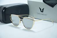 Солнцезащитные очки Gentle Monster Arrow золото с зеркальными стеклами