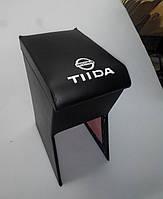 Подлокотник Nissan Tiida / Ниссан Тиида(черный с логотипом)
