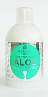 Шампунь увлажняющий для восстановления блеска сухих и поврежденных волос с экстрактом Алоэ 1000 мл Kallos, фото 1