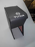 Подлокотник Nissan Tiida / Ниссан Тиида (серый с логотипом)