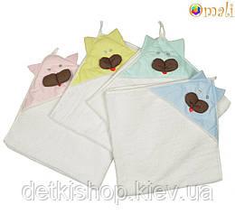 Детское полотенце с капюшоном «Котик»