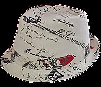 Шляпа челентанка комби письмо
