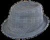 Шляпа челентанка комби костюмка серая