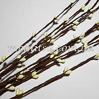 Ветка с тычинками, цвет кремовый, 5 шт