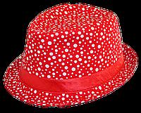 Шляпа челентанка комби горохи разнобой