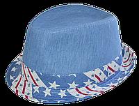 Шляпа челентанка комби ам.звезды