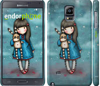 "Чехол на Samsung Galaxy Note 4 N910H Девочка с зайчиком ""915c-64"""