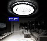 Светодиодный потолочный светильник LED Panel кристалл 80 см пульт ДУ, фото 2