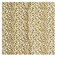 Ткань св.бежевая 50х50 см Сердечки коричневые