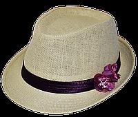 Шляпа челентанка солома цветы орхидея