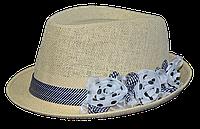 Шляпа челентанка солома цветы ч/б
