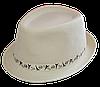 Шляпа челентанка комби тесьма Париж