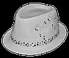 Шляпа челентанка комби 2 бантика