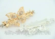 Красивый Гребешок для волос с кристалликами ― золотистого цвета