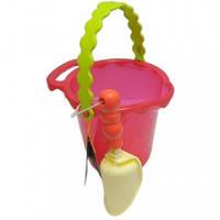 """Набор для игры с песком и водой Battat """"Ведерце с лопаткой"""", цвет томатный"""