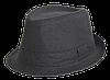 Шляпа челентанка лен черный