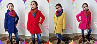 Детское кашемировое пальто на пуговицах в расцветках