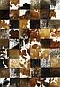 Элитные дизайнерские ковры ручной работы, кожаные ковры, ковер триколор, ковры пэчворк