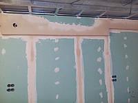 Гипсокартонные потолки и стены.