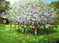 Картина маслом — весенний пейзаж