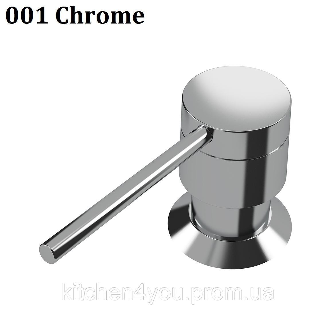 Дозатор для рідкого мила 250 ml. AquaSanita D-001 хром