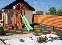 Резиновая плитка для детских игровых комплексов., фото 1