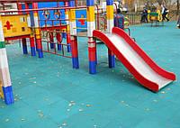 Резиновое напольное покрытие для детских площадок.