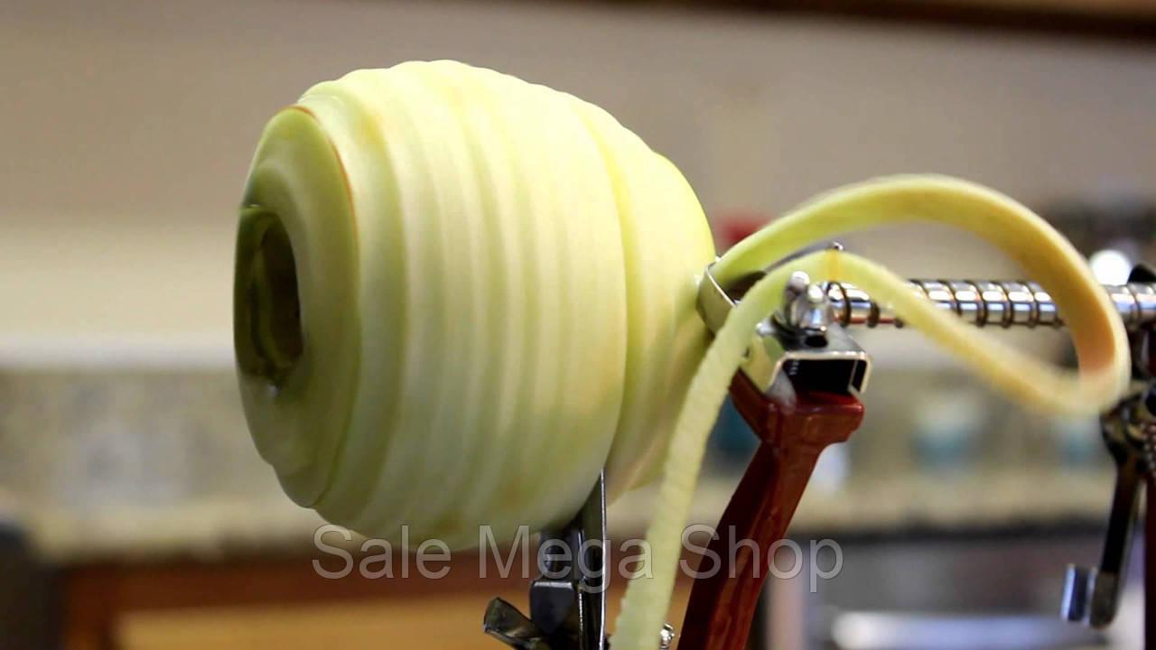 Машинка для чистки и фигурной нарезки яблок и других овощей и фруктов Core Slice Peel, фото 4