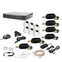 Комплект видеонаблюдения Tecsar 6OUT DOME LUX