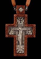 Крест наперсный наградной №7 (красное дерево, серебрение)