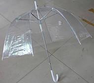 Женский зонт трость прозрачный
