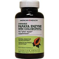 Пищеварительные энзимы - Папайя с хлорофиллом / Papaya Enzyme with Chlorophyll, 250 жев.таблеток
