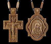 Комплект Панагия Почаевская Божья Матерь, Крест наградной №7