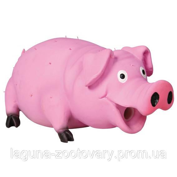 """*Игрушка для собак """"Свинья с щетиной"""" 21см, латекс"""