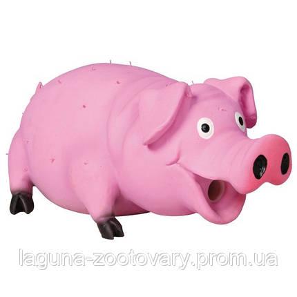 """*Игрушка для собак """"Свинья с щетиной"""" 21см, латекс, фото 2"""