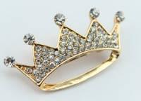 Брошь корона в стразах