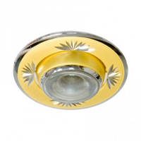 Светильник точечный (декоративное литье)Цоколь E14 жемчужное золото-хром NL09