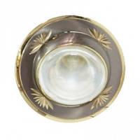 Светильник точечный (декоративное литье)Цоколь Е14 (титан-золото) NL09