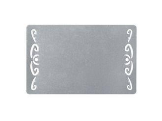 Визитка металлическая для сублимации (серебро ажурный орнамент) 0.45 мм