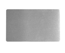 Визитка металлическая для сублимации (серебро) 0.32 мм