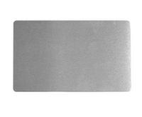 Визитка металлическая для сублимации (серебро) 0.45 мм