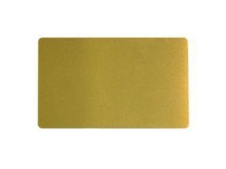 Визитка металлическая для сублимации (золото) 0.32 мм